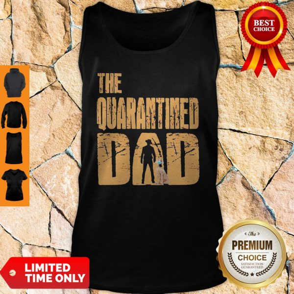 Official The Quarantined Dad Dog Mask Tank Top