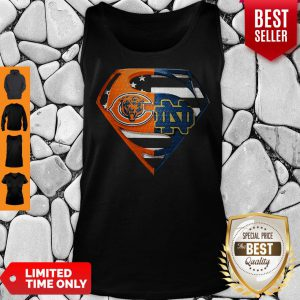 Superhero Chicago Bears And Notre Dame Diamond American Flag Independence Day Tank Top