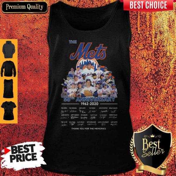 The Mets 58th Anniversary 1962-2020 Thank You For The Memories Signatures Tank Top