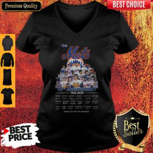 The Mets 58th Anniversary 1962-2020 Thank You For The Memories Signatures V-neck