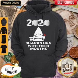Toilet Paper Sharks Hug With Their Mouths Hoodie