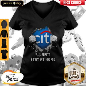 Top Blodd Insides Citibank Covid-19 2020 I Can't Stay At Home V-neck