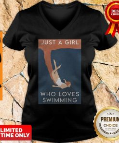Official Just A Girl Who Loves Swimming V-neck