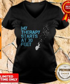 Official My Therapy Starts At 30 Feet V-neck