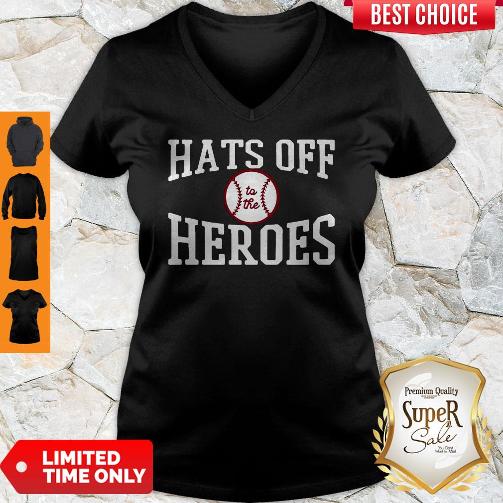 Players Trust Hats Off To The Heroes V-neck