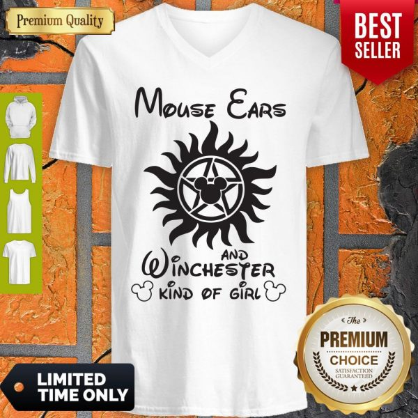Disney Mouse Ears And Winchester Kind Of Girl V-neck