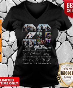 Years Of 2001 2021 Fast And Furious Thank You For The Memories V-neck