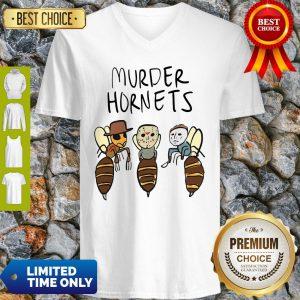 Official Murder Hornets Bees Freddy Jason Myers V-neck
