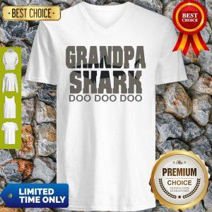Official Grandpa Shark Doo Doo Doo V-neck