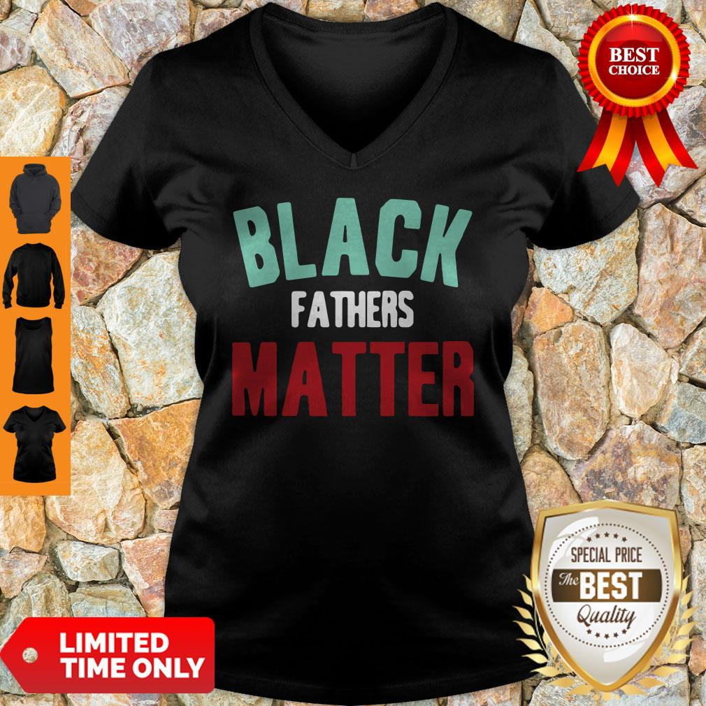 Black Fathers Matter African American Father's Day V-neck