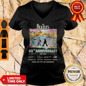The Beatles 60th Anniversary 1960 2020 Thank You For The Memories Signatures V-neck
