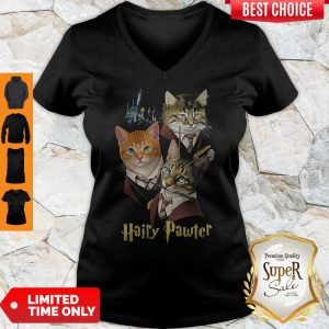 Official Cats Hairy Pawter V-neck