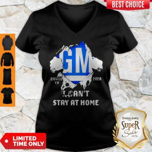 Blood Inside Me General Motors Covid-19 2020 I Can't Stay At Home V-neck