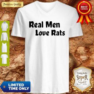 Official Real Men Love Rats V-neck