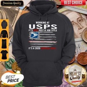 Working At USPS It's Not Just A Job Title It's A 2020 Survival Skill American Flag Hoodie