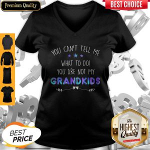 You Can't Tell Me What To Do You Are Not My Grandkids Stars V-neck