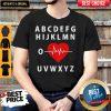 A B C D E F G H Love Heart Heartbeat Shirt