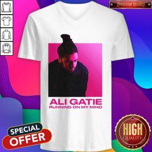 Ali Gatie Running On My Mind V-neck