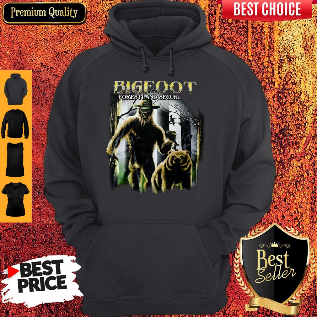 Bigfoot And Bear Version Bigfoot Forestland Security Hoodie
