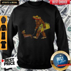 Bigfoot And Dachshund Tacos Sombreros Cinco De Mayo Sweatshirt