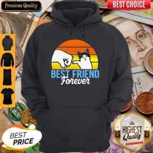 Cat Best Friend Forever Vintage Retro Hoodie