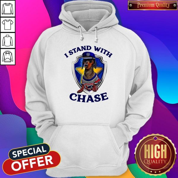 Dachshund I Stand With Chase Police Hoodie