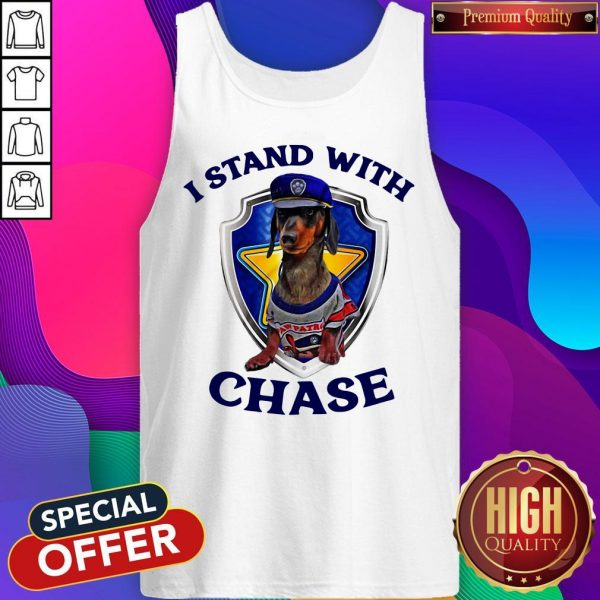 Dachshund I Stand With Chase Police Tank Top
