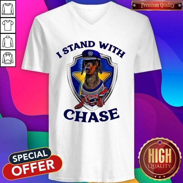 Dachshund I Stand With Chase Police V-neck