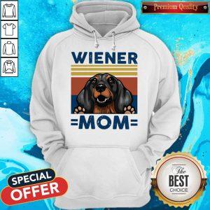 Dachshund Wiener Mom Vintage Hoodie