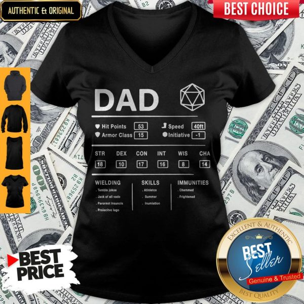 Dad Hit Points Speed Armor Class Initiative Wielding V-neck