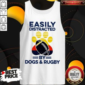 Easily Distracted By Dogs And Rugby Vintage Tank Top