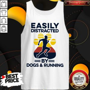 Easily Distracted By Dogs And Run Vintage Tank Top