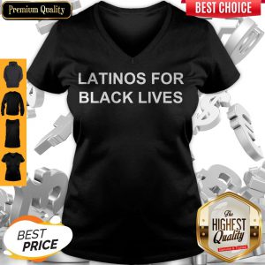 George Floyd Latinos For Black Lives V-neck