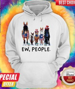 Horses Soap Ew People American Flag Independence Day Hoodie