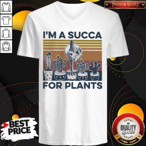I'm A Succa For Plants Vintage V-neck