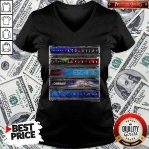 Journey Cassette Album Covers V-neck