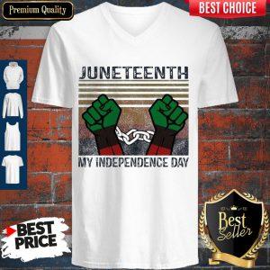 Juneteenth My Independence Day Vintage V-neck