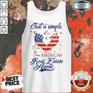 Just A Simple American Real Estate Agent Tank Top