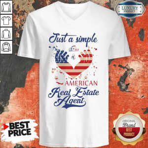 Just A Simple American Real Estate Agent V-neck