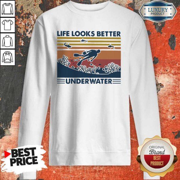 Life Looks Better Underwater Vintage Sweatshirt