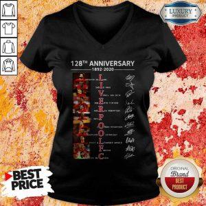 Liverpool 128th Anniversary 1892 2020 Signatures V-neck
