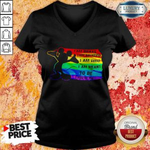 Mickey Mouse LGBT I Am Brave Bruised Who Meant To Be This Is Me V-neck