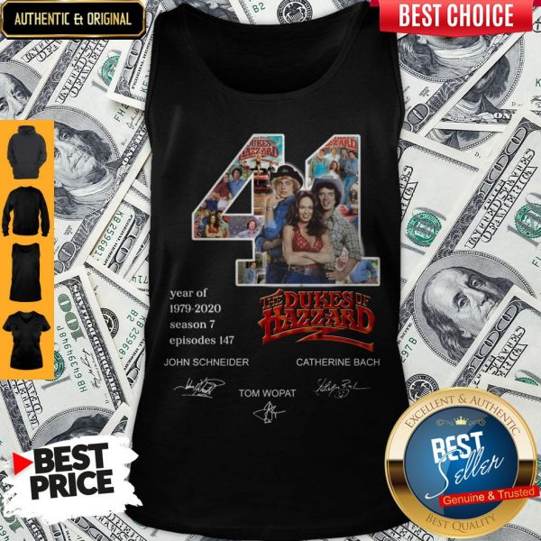 Official 41 Years Of The Dukes Of Hazzard Tank Top