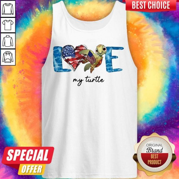 Official American Love My Turtle Tank Top