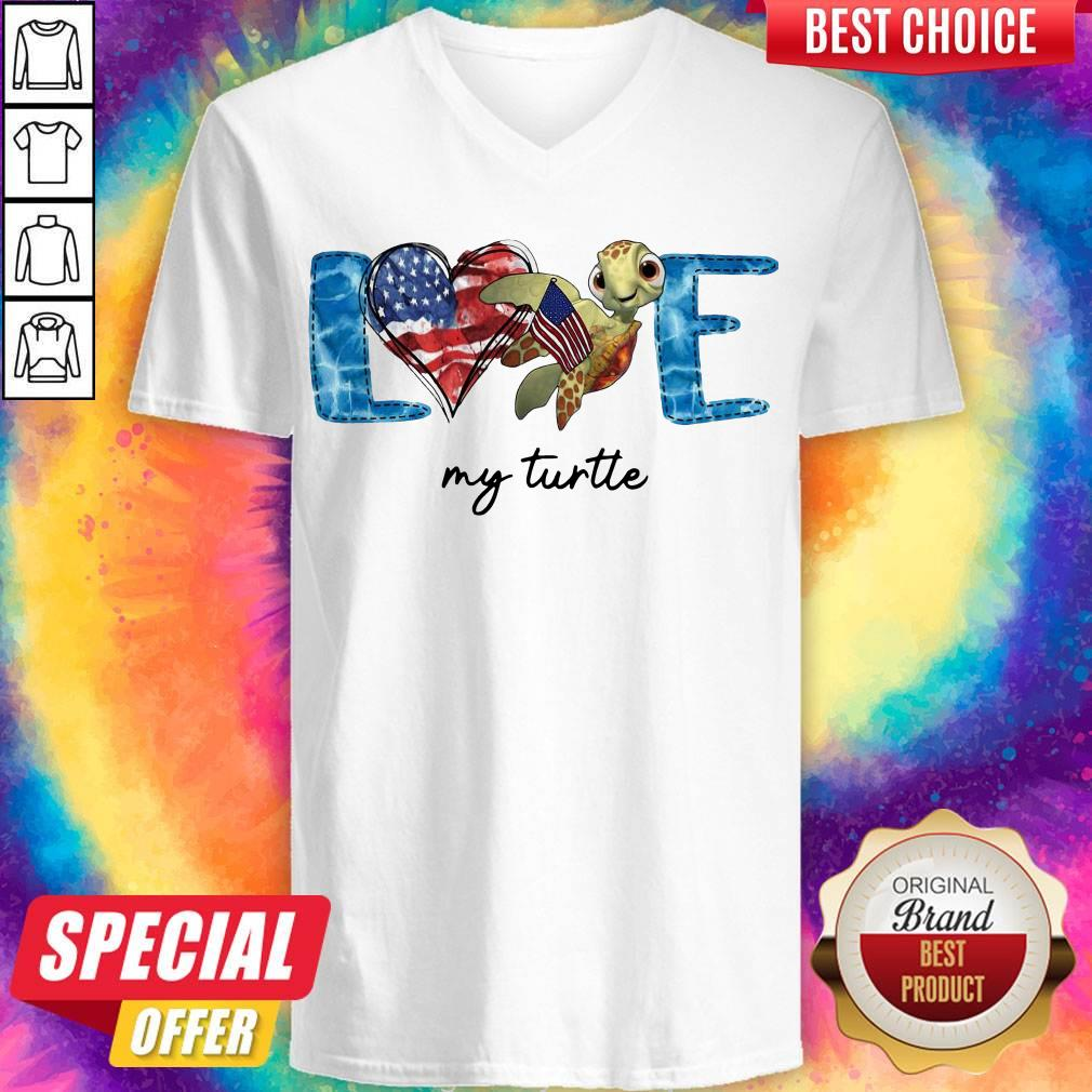 Official American Love My Turtle V-neck