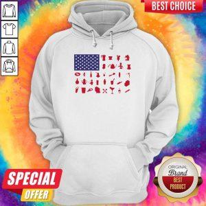 Official Bartender American Flag Hoodie