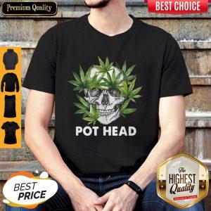 Official Cannabis Skull Weed Pot Head Shirt