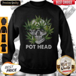 Official Cannabis Skull Weed Pot Head Sweatshirt