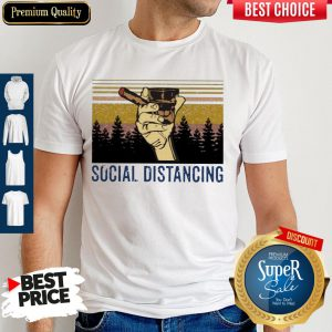 Official Cigar Social Distancing Vintage Shirt