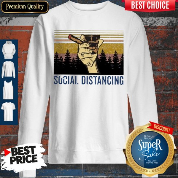 Official Cigar Social Distancing Vintage Sweatshirt
